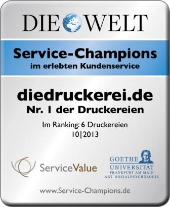 diedruckerei.de ist Nr.1 der Druckereien