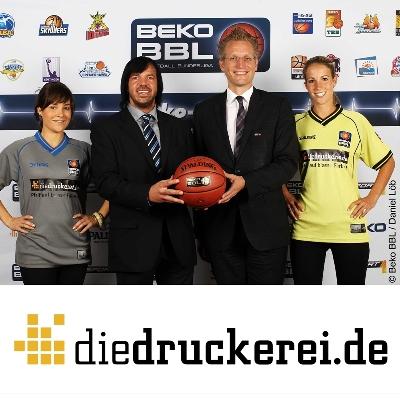 Walter Meyer (li.), Geschäftsführer Onlineprinters GmbH, und Beko BBL-Chef Jan Pommer.