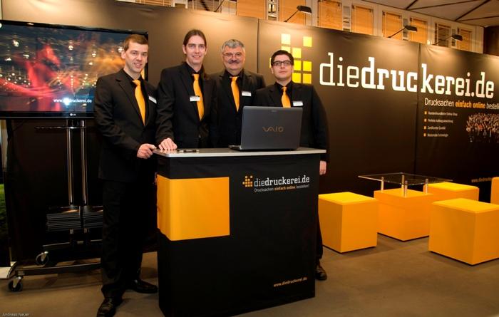 Messestand des Onlineshops von diedruckerei.de