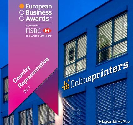 Onlineprinters GmbH für Deutschland nominiert (c) European Business Awards