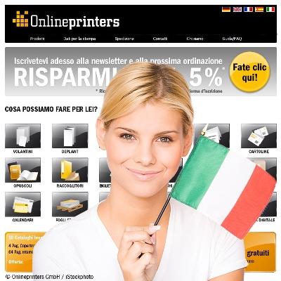 Italienischer Onlineshop für Drucksachen